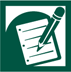 Green assignment icon